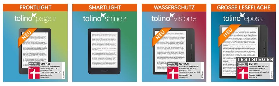 Tolino eBookreader im Vergleich